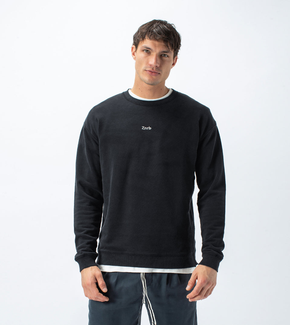 Typeface Rugger Crew Sweat Smokey Black