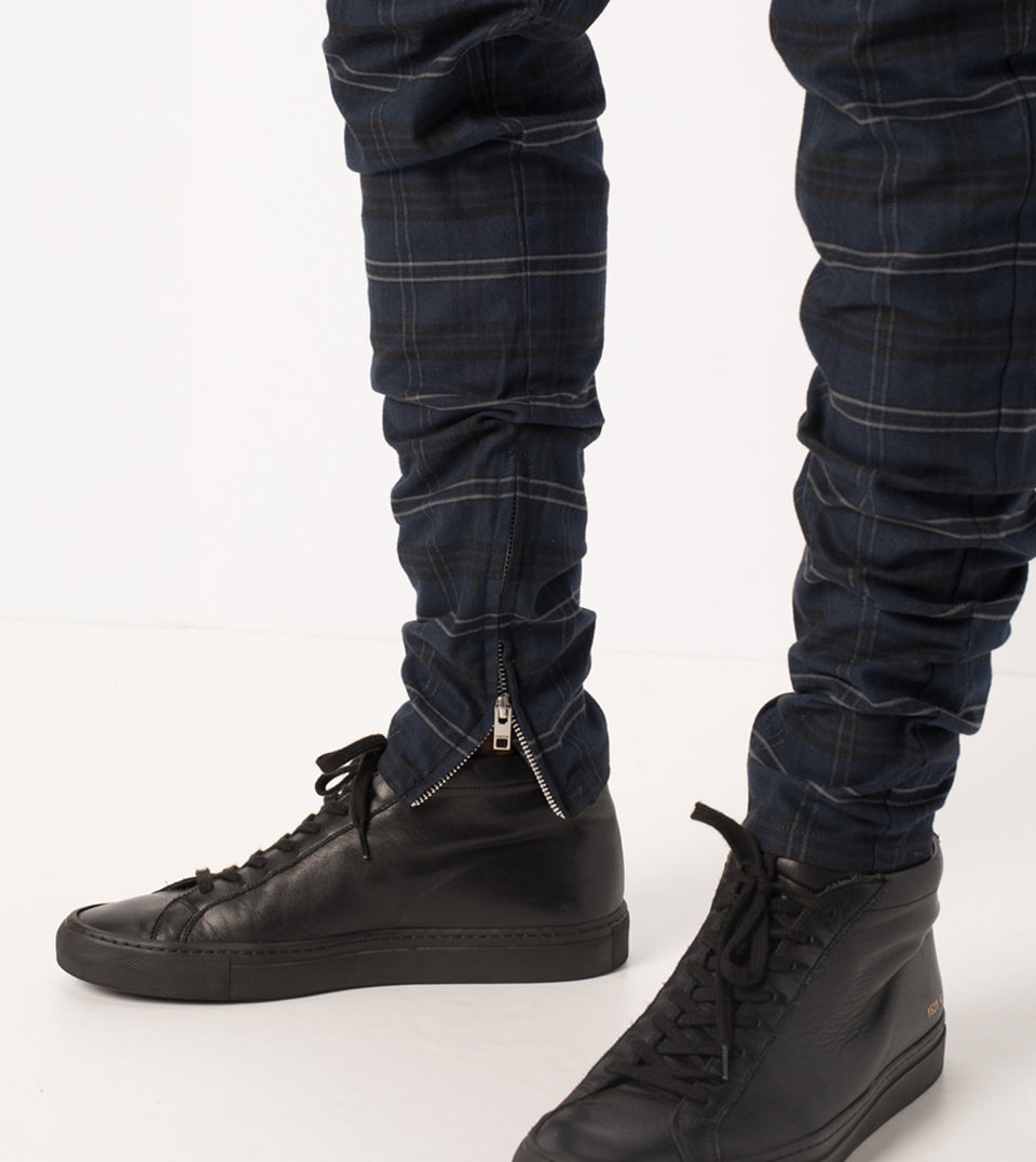 Unblockshot Chino Navy Check - Sale