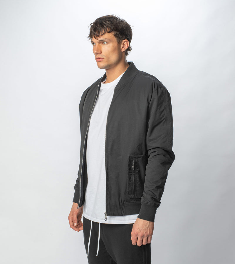 Utility Bomber Jacket Black