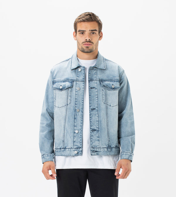 Vintage Denim Jacket Mineral Blue