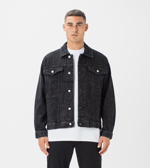 Vintage Denim Jacket Salt Black