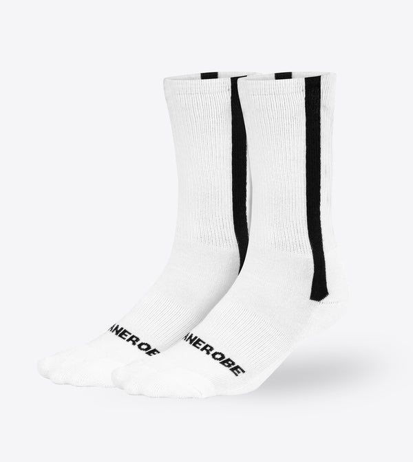Stripe High Sock White (2 Pack)