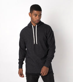 Waffle Rugger Hood Sweat Black Speck - Sale