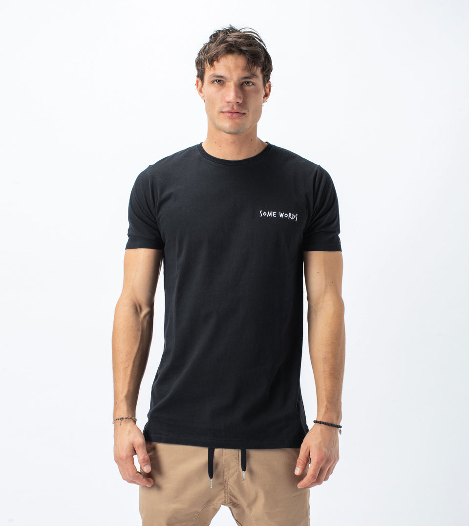 Words Flintlock Tee Smokey Black