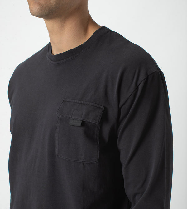 Workwear Box LS Tee Black