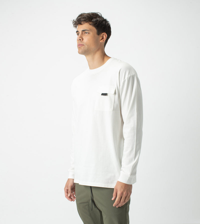 Workwear Box LS Tee Milk
