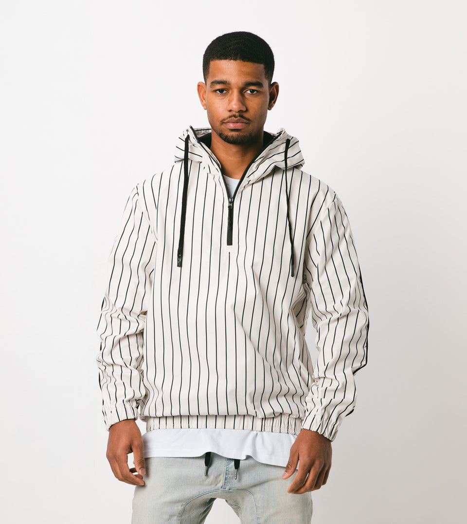 Yeo 1/3 Zip Anorak Shell/Black - Sale