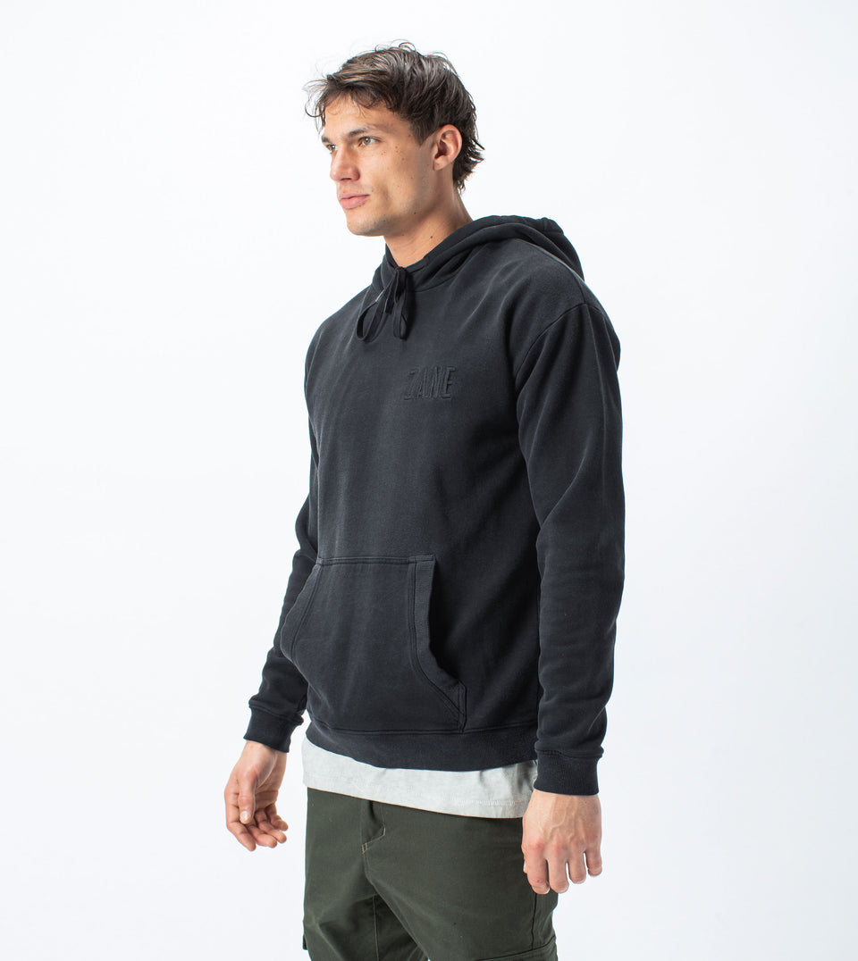 ZANE Rugger Hood Sweat Black