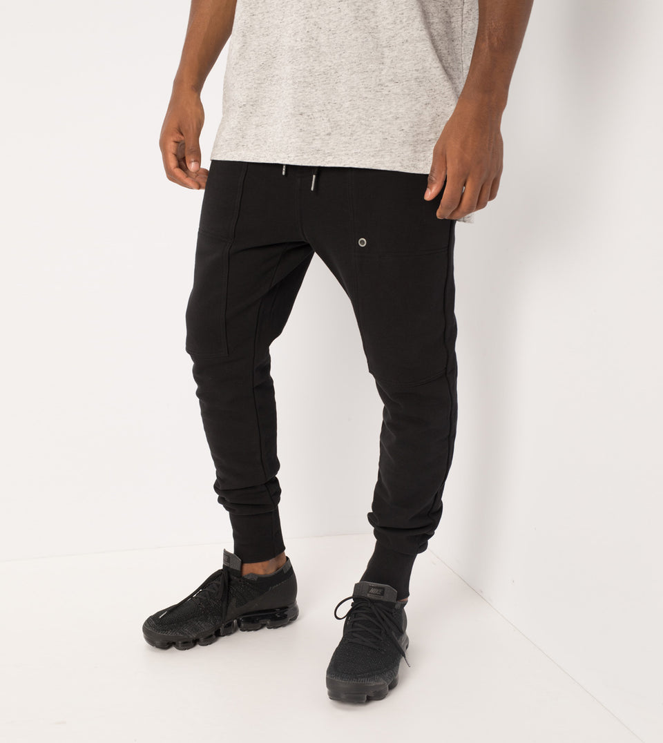 Blockshot Fleece Pant Black - Sale