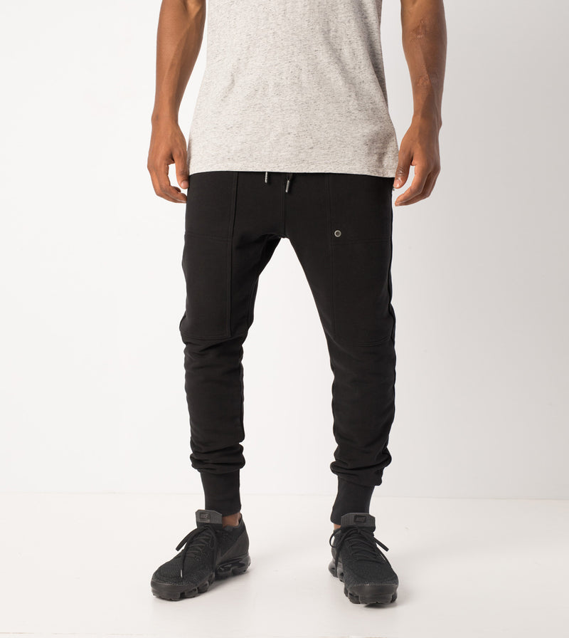 Blockshot Fleece Pant Black