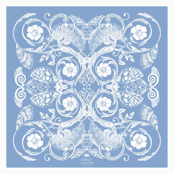 The Baroque Pocket Square - Sky Blue | 35x35cm