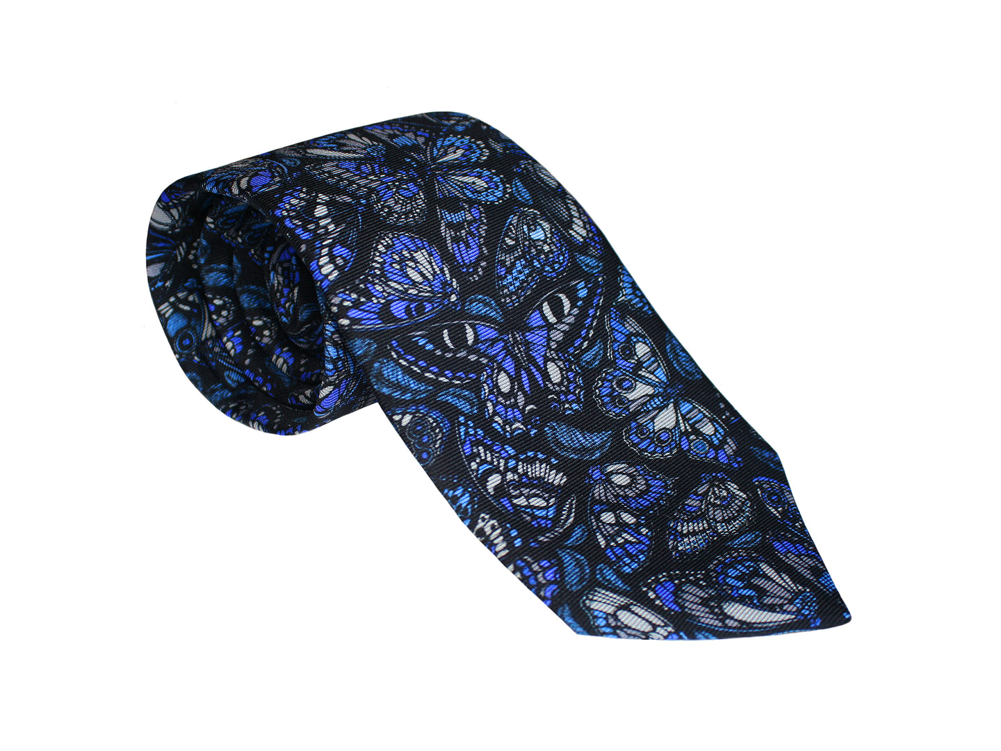 The Tropical Butterfly Tie - Royal Blue