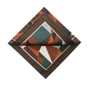The Prism Pocket Square - Chestnut | 35x35cm