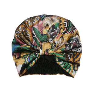 The Baroque Tiger Silk Turban - Emily Carter London