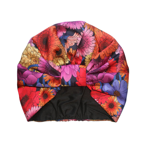 The Dahlia Garden Silk Turban