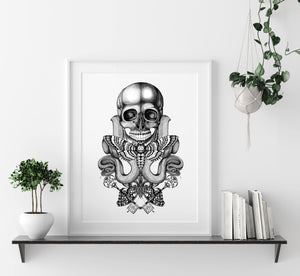 'Death's Head' Fine Art Print - Emily Carter London
