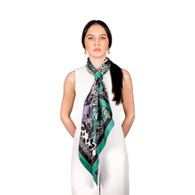 The Jewel & Jaguar Silk Scarf | 90x90cm