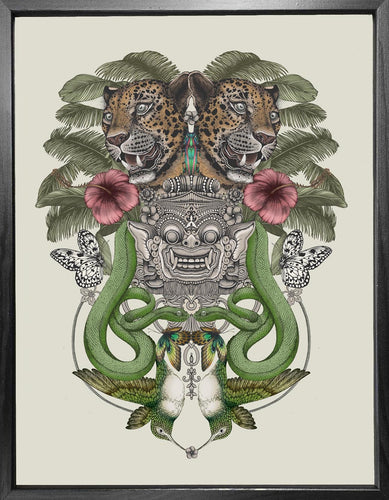 'Antique Balinese Jungle' Fine Art Print