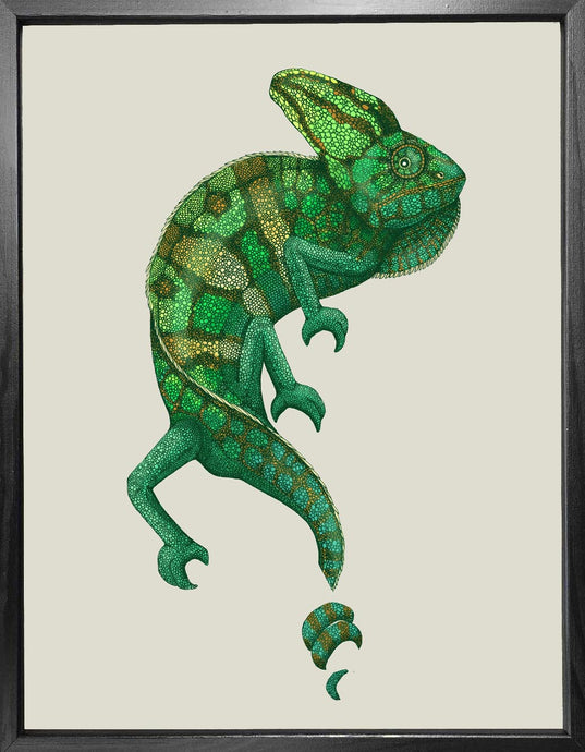 'Antique Chameleon' Fine Art Print