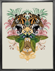 'Antique Baroque Tiger' Fine Art Print