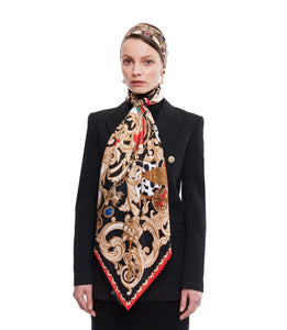 The Jewelled Baroque Twilly Scarf