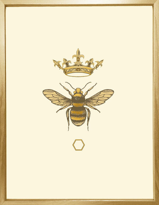 'Antique Honey Queen Bee' Fine Art Print