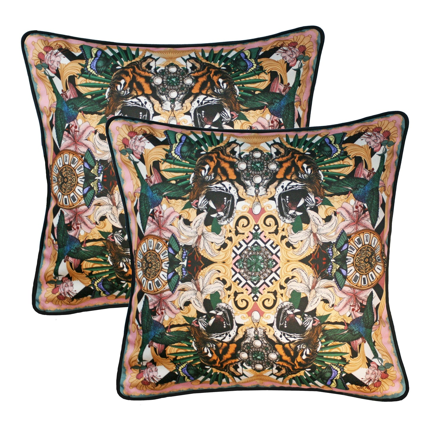 The Baroque Tiger Cushion Set | 45x45cm - Emily Carter London