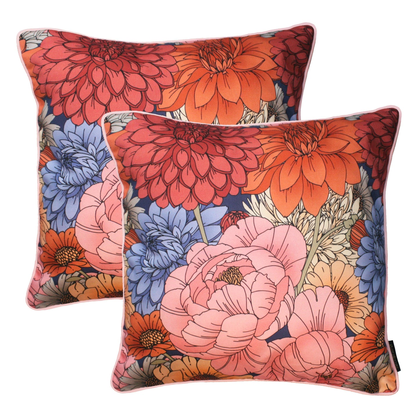The Antique Floral Cushion Set | 45x45cm - Emily Carter London