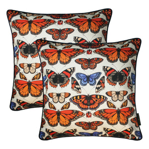 The British Butterfly Cushion Set | 45x45cm - Emily Carter London