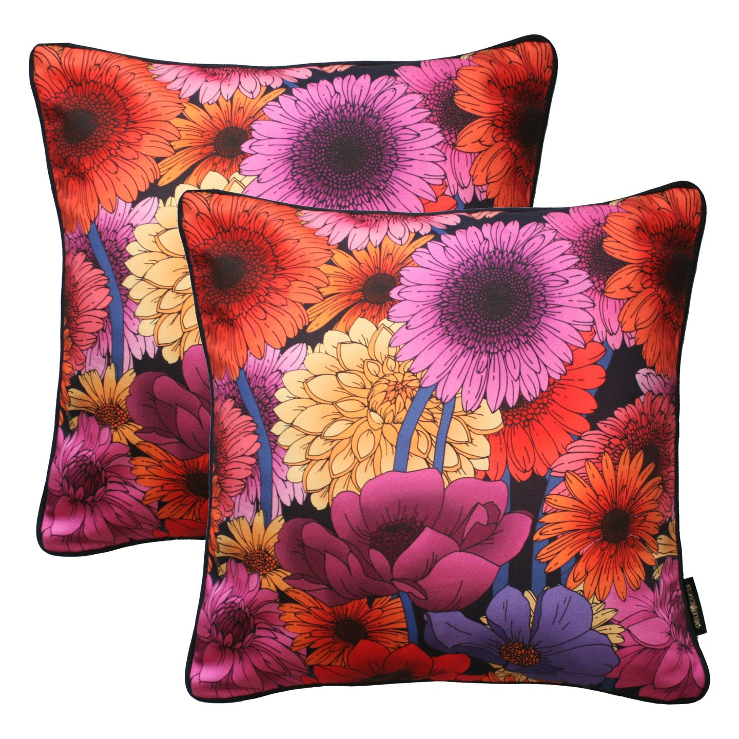 The Dahlia Garden Cushion Set | 45x45cm - Emily Carter London