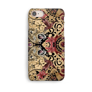 Luxury Phone Case - Leopard & Ruby