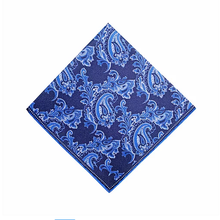 The Floral Paisley Pocket Square - Navy | 35x35cm