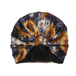 The Sunflower Garden Silk Turban - Emily Carter London