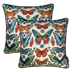 The Tropical Butterfly Cushion Set | 45x45cm - Emily Carter London
