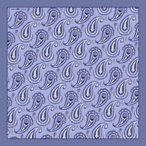 The Paisley Pocket Square - Grey | 35x35cm