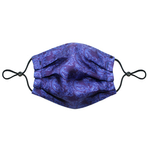 3-Layer Silk Face Mask (Non-Medical) - Paisley Navy Unisex