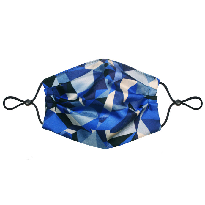 3-Layer Silk Face Mask (Non-Medical) - Prism Navy Unisex