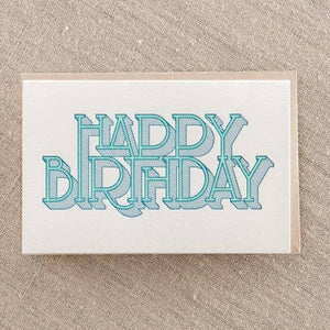 Birthday Type Shaded Greeting Card