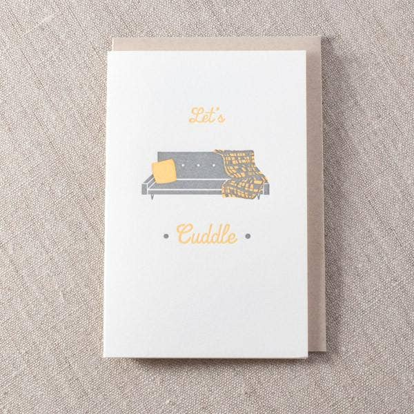 Cuddle Couch Greeting Card