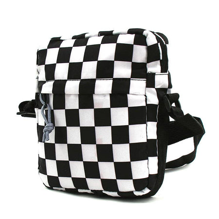 Checkered Print Shoulder Bag