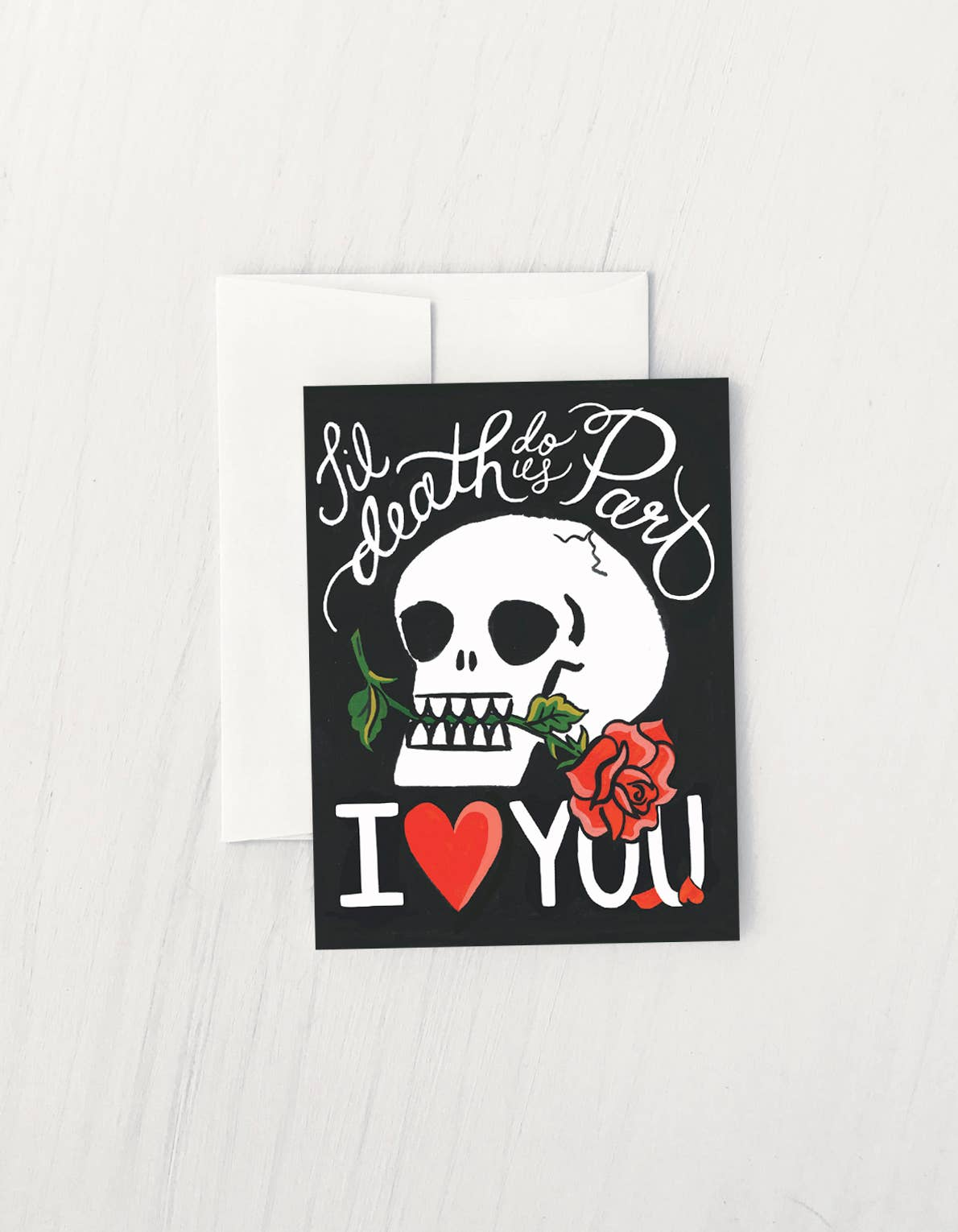 Skull and Rose Card