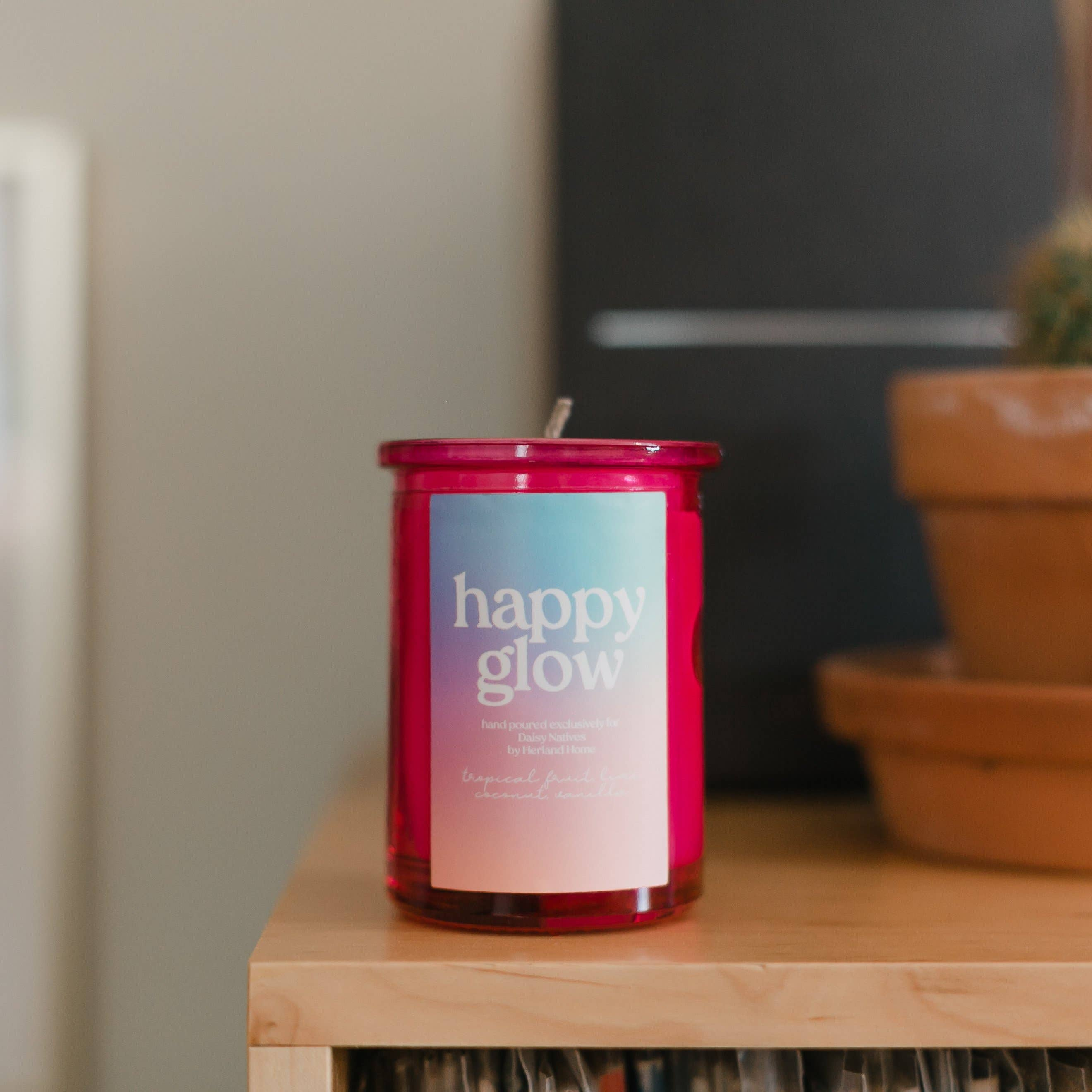 Happy Glow Candle