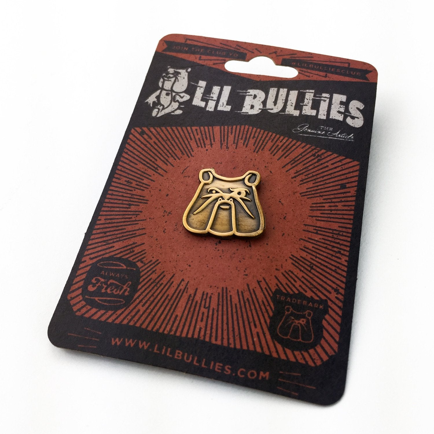 Antique Bulldog Socal Bulldog Rescue Benefit Lapel Pin