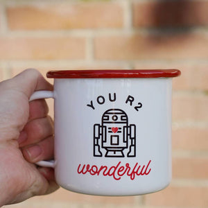 You R2 Wonderful Lovely Enamel Mug