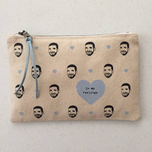 In My Feelings Zip Canvas Pouch