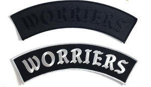 Worriers Back Patch