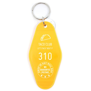 Taco Club Motel Key Tag