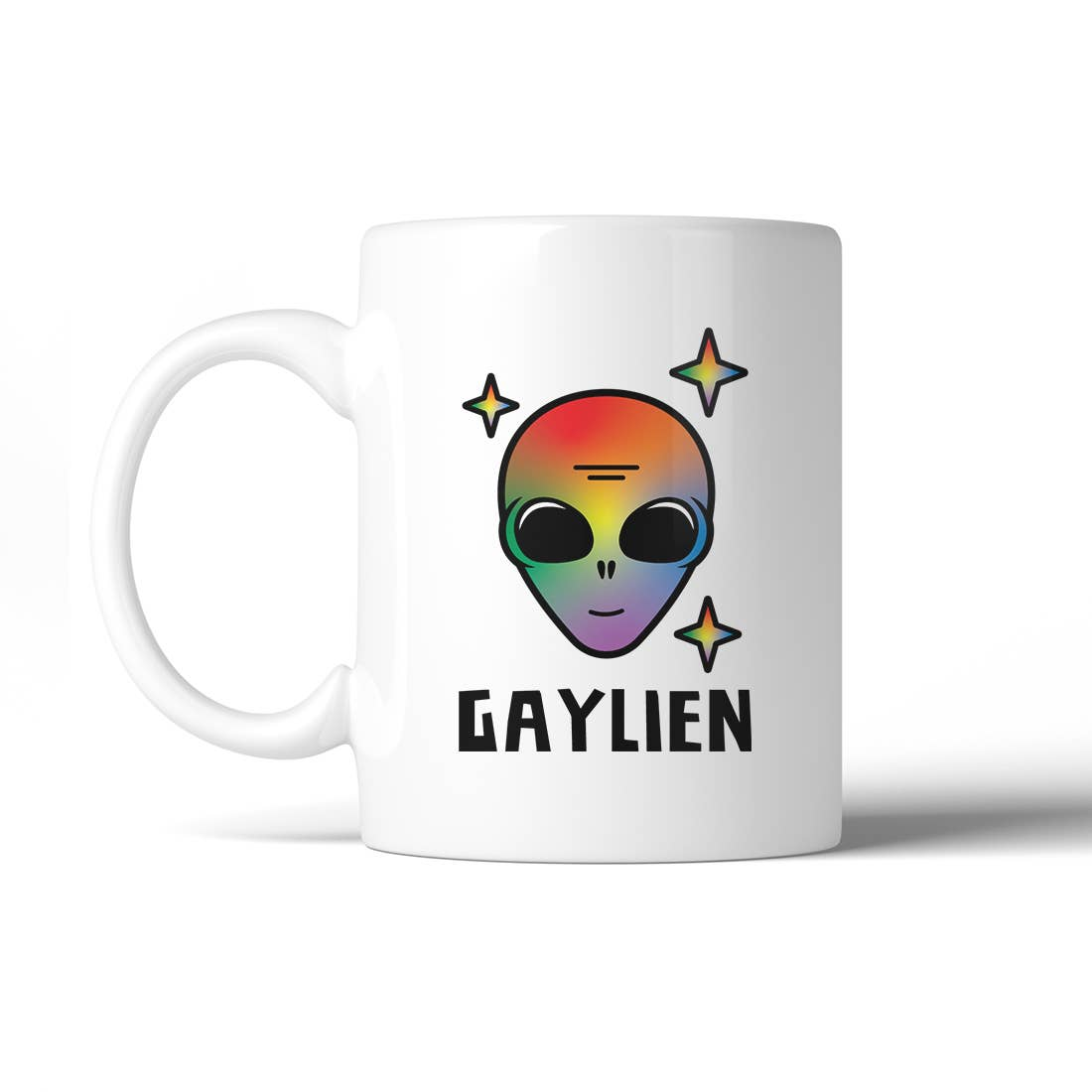 Gaylien Rainbow Alien Coffee Mug