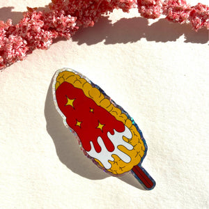 Hot Elote Holo Sticker