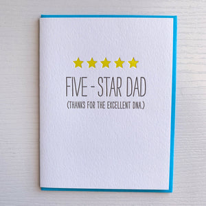 Five Star Dad Father's Day Card